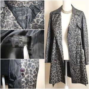 Sanyo by Carol Cohen Jackets & Coats - NEW Sanyo Leopard Print Light Trench Coat